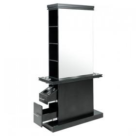 """MALTA"" Double Sided Salon Station (Black)"
