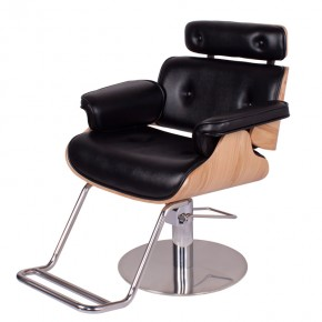 """""""COCOA"""" modern Styling Salon Chair in black"""