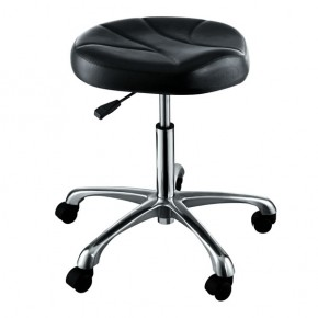 """ERATO"" Hair Salon Stool with Cast Alloy Base"