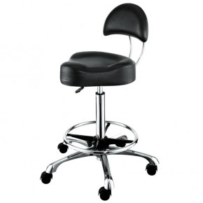 """AROHA"" Hair Salon Stool with Cast Alloy Base & Footrest Ring"