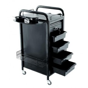 """WALKER"" Multiple Function Salon Cart (All Black)"