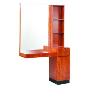 """LEROS"" Single Salon Station - Cherry Wood Colour"