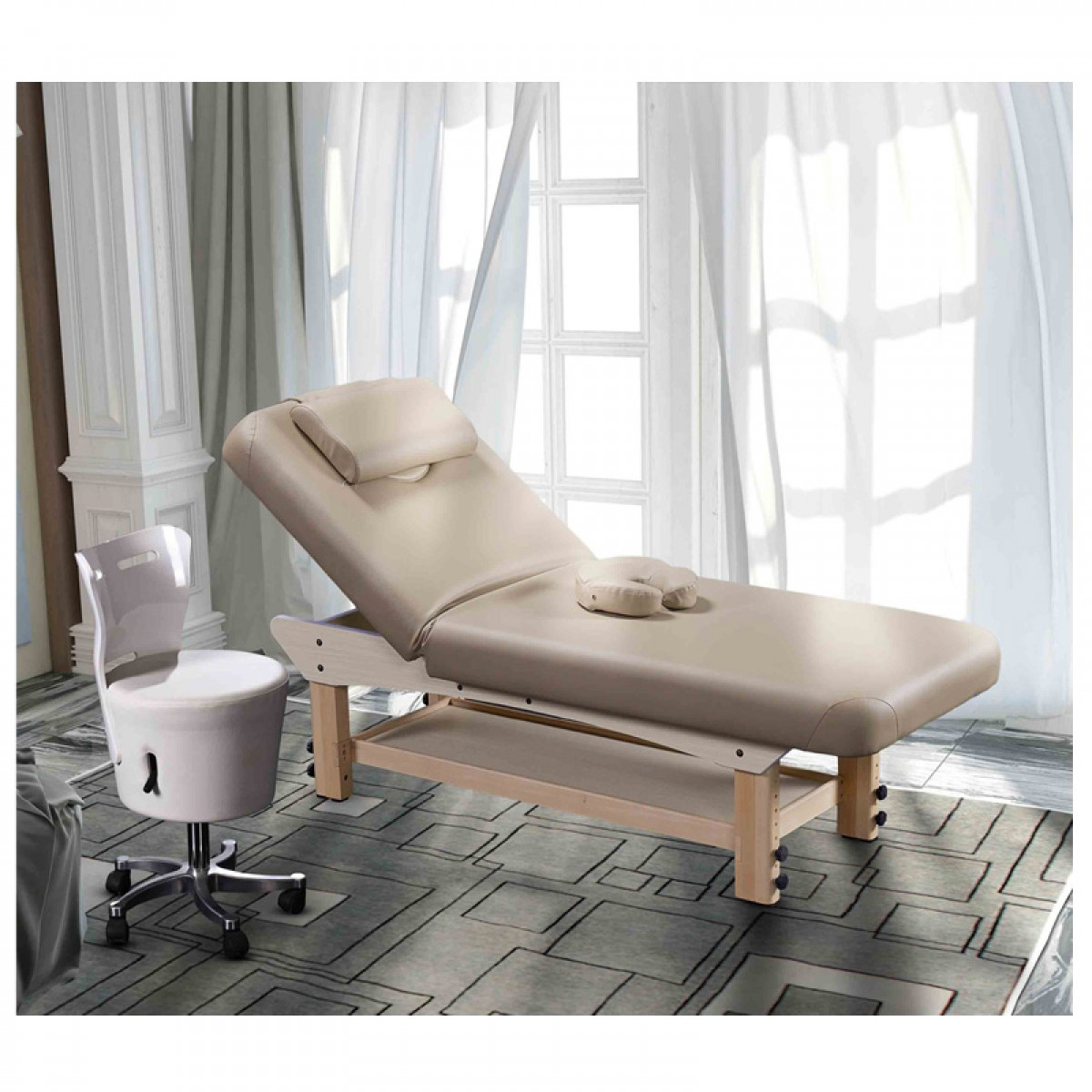 China Wholesale Solid Wooden Thai Massage Bed High Quality Adjustable Full Body Beauty Massage Table With Storage