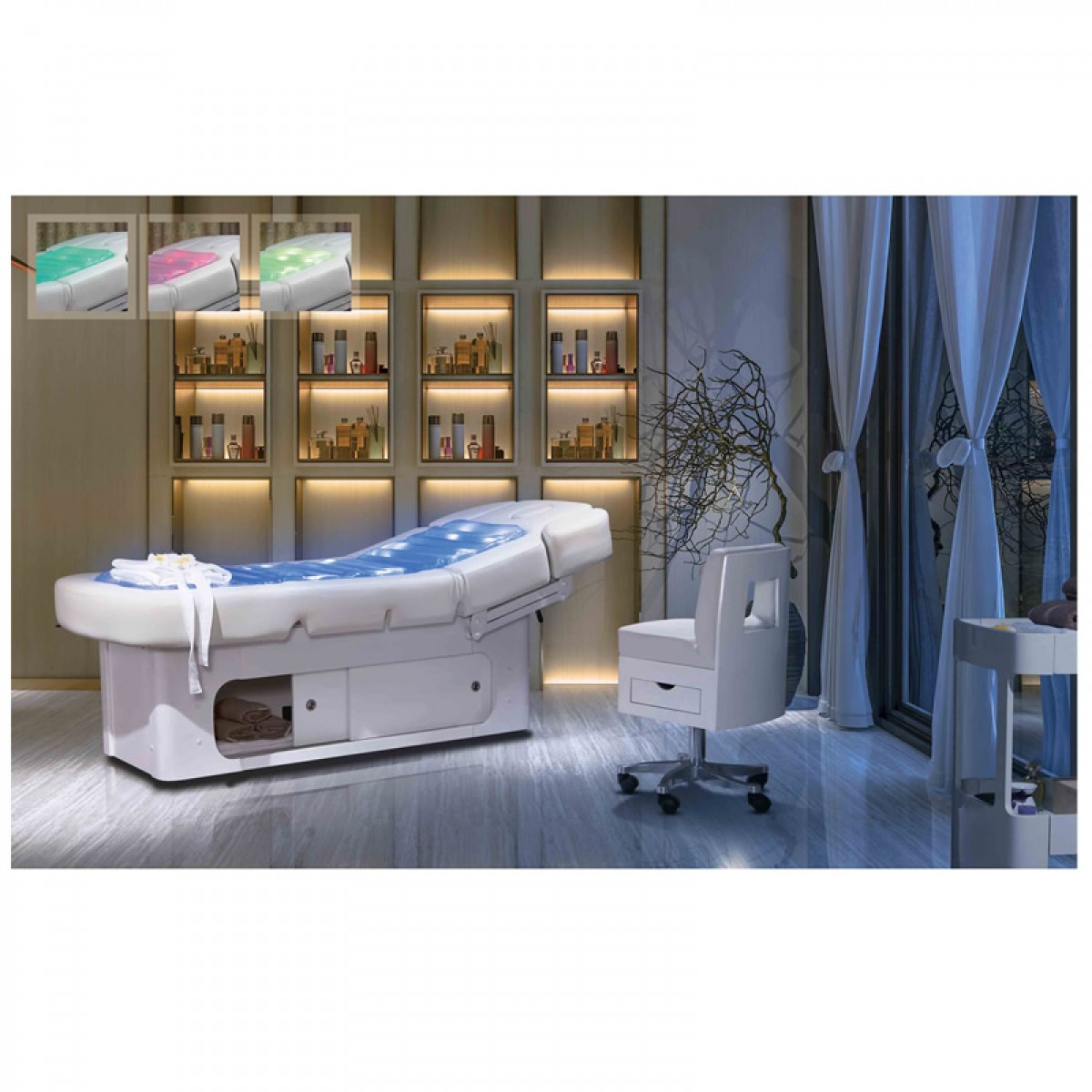 Good price thermal electric water massage bed with Heating and LED Ligh