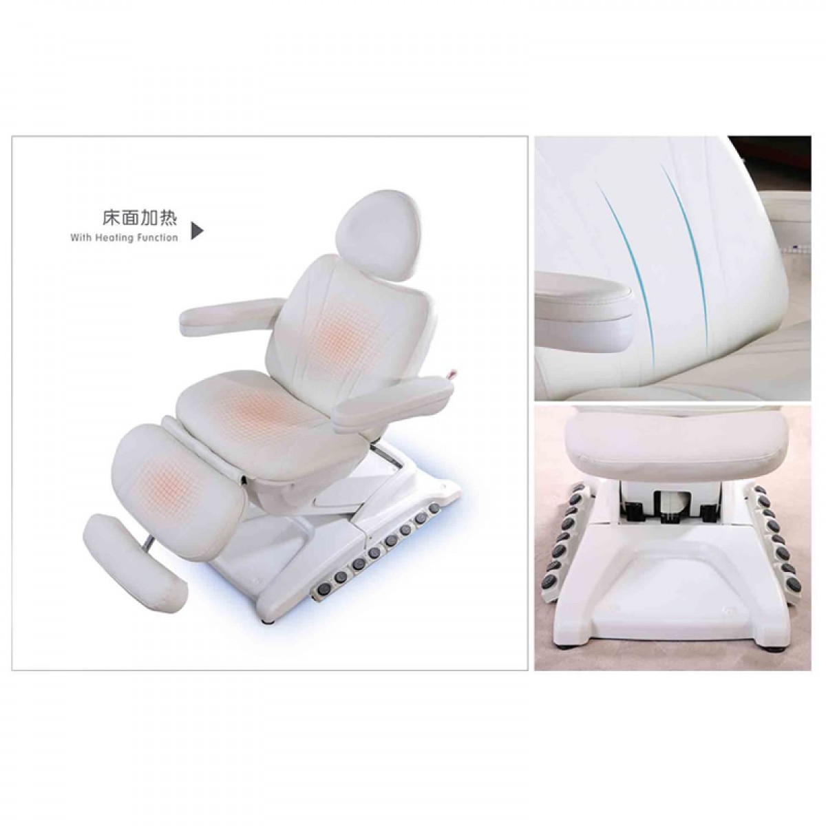 Salon furniture supplier genuine leather beauty facial bed for manicure treatment