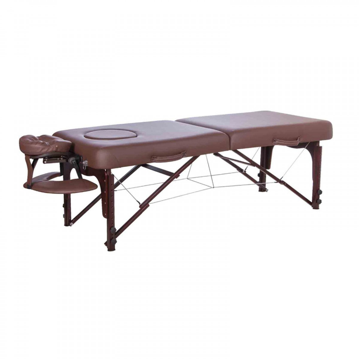 Lightweight Wooden massage table 3-Segment folding massage bed adjustable spa massage table