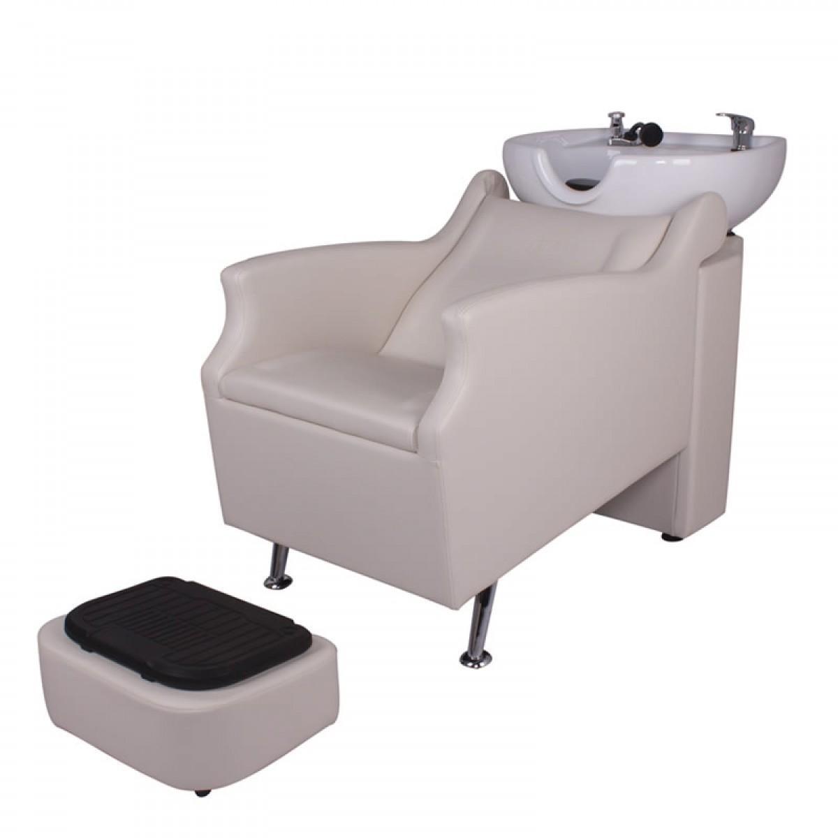 """""""OUTLAND"""" Backwash Shampoo Unit in white"""