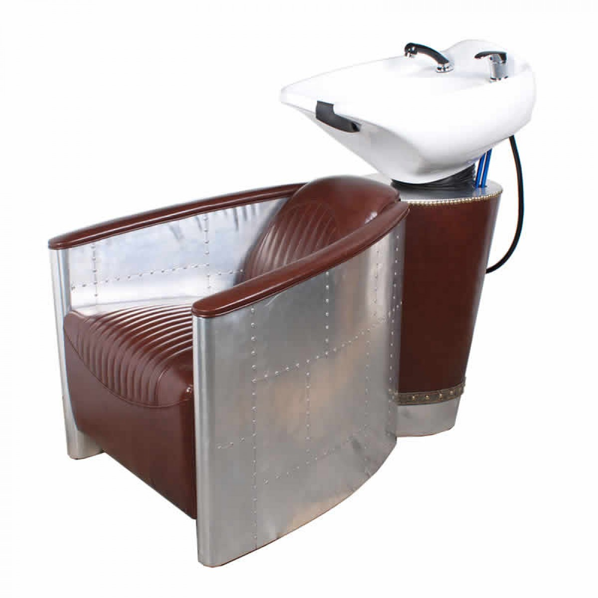 """AVIATOR"" Vintage Shampoo Backwash Unit in Aluminum - Min order quantity 5 pcs"