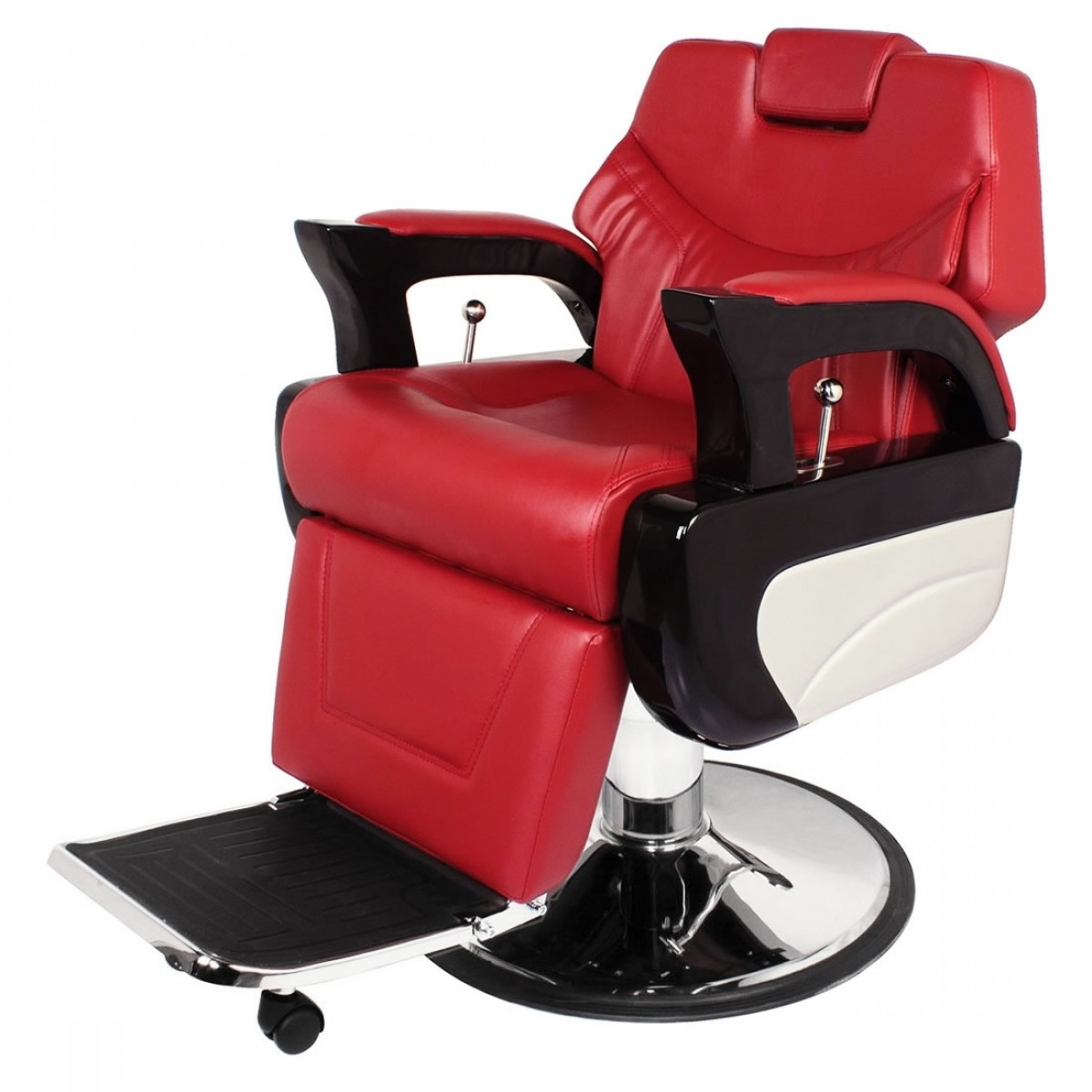 """AUGUSTO"" Barbershop Chair in Cardinal Red"