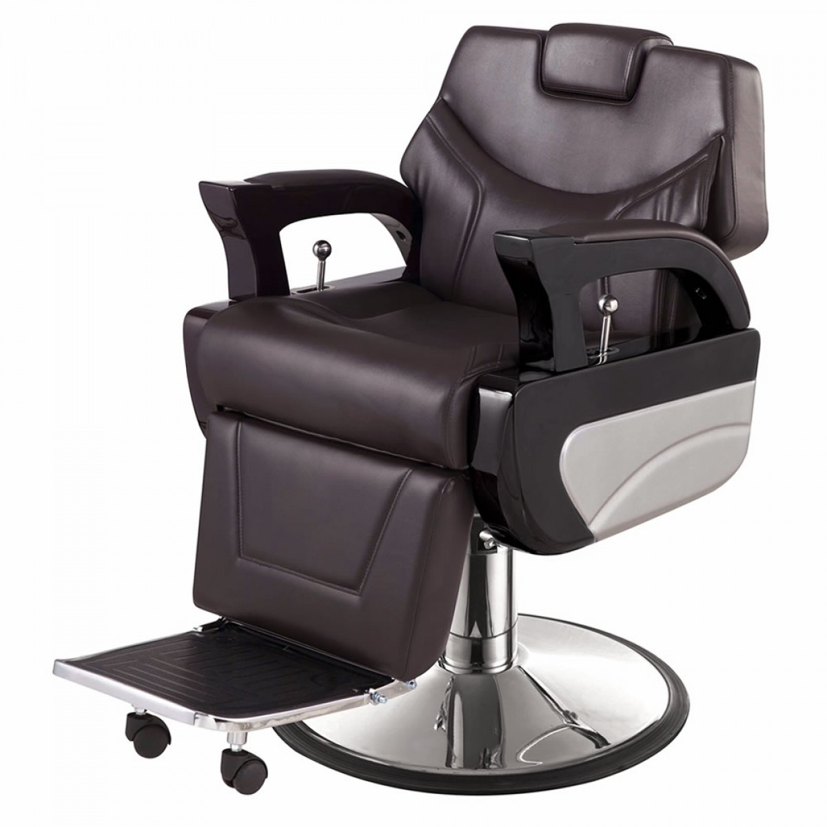 """""""AUGUSTO"""" Barbershop Chair in Soft Chocolate"""