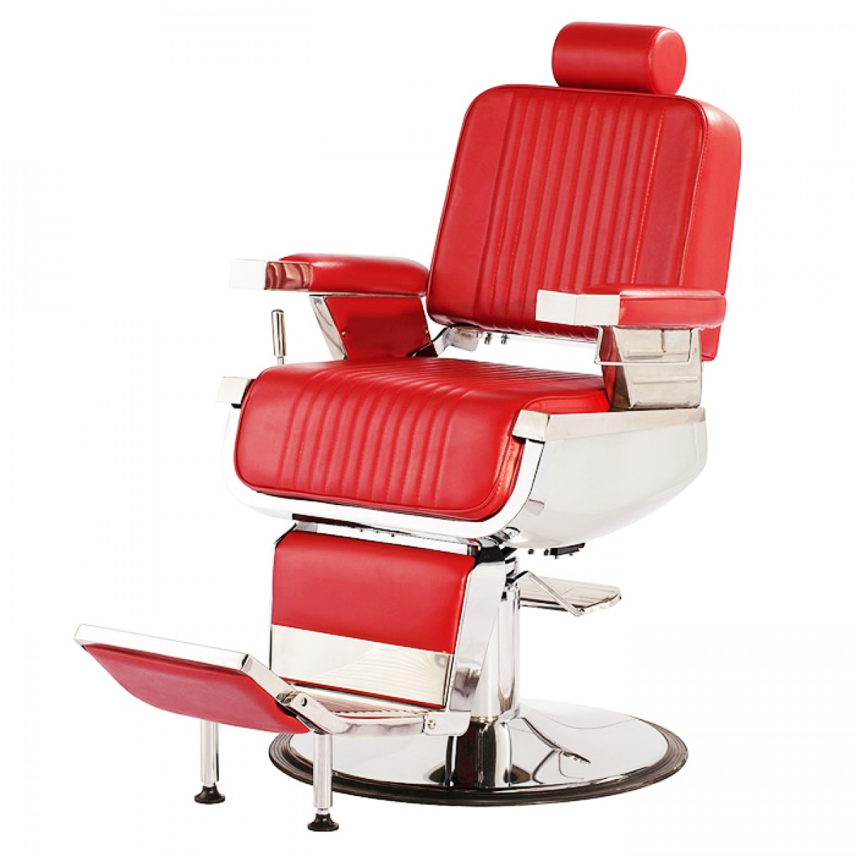 """CONTINENTAL"" Barber Chair in Red, Red Barber Chairs"