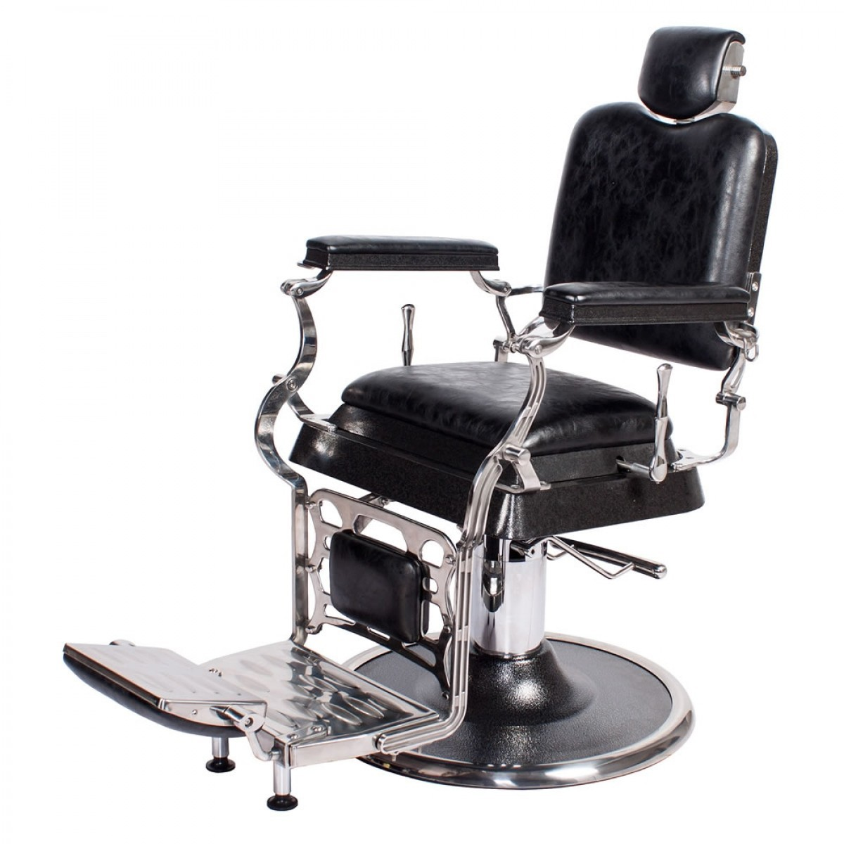 """""""EMPIRE"""" Barber Chair in Antique Black"""
