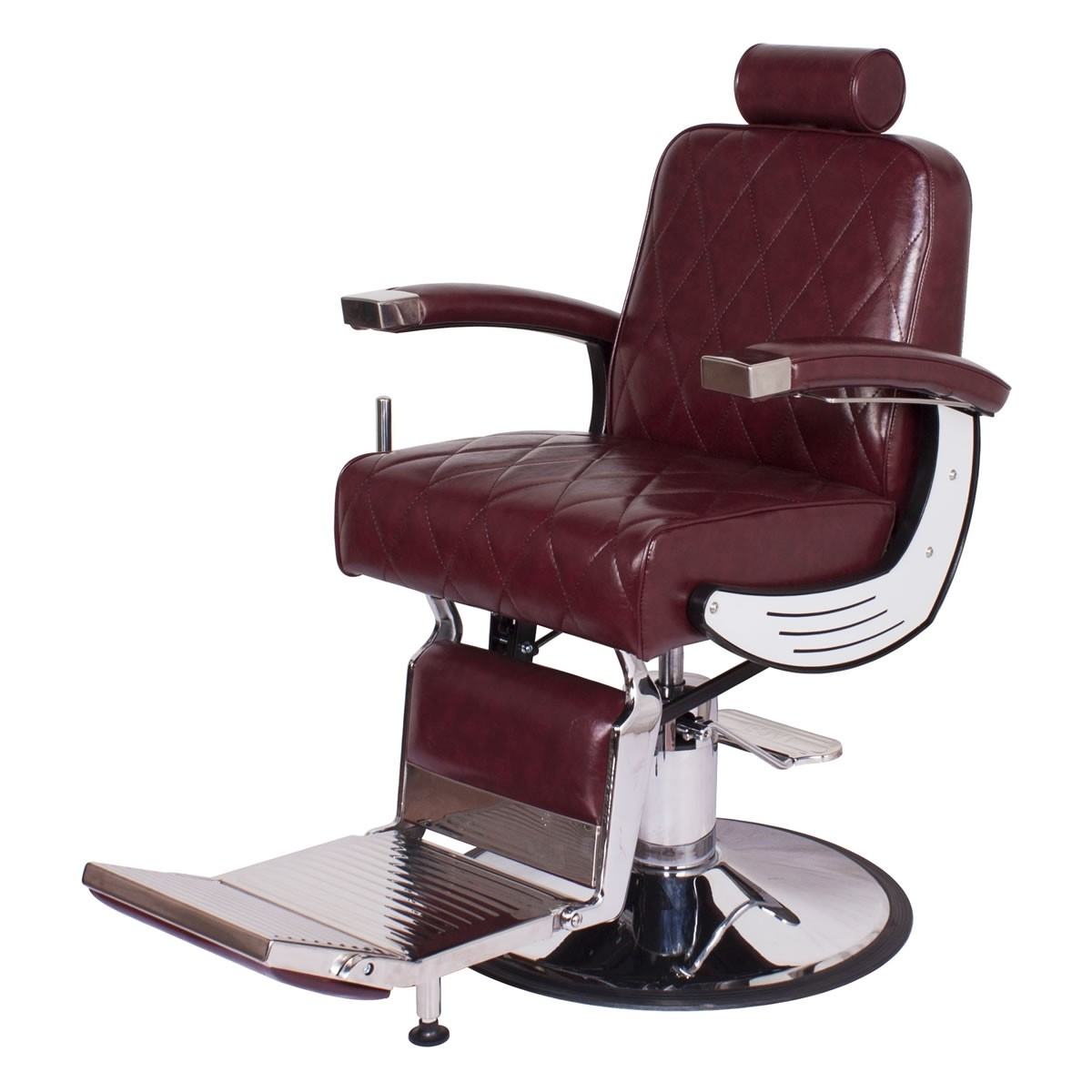 """BARON"" Heavy Duty Barber Chair in Dark Merlot"