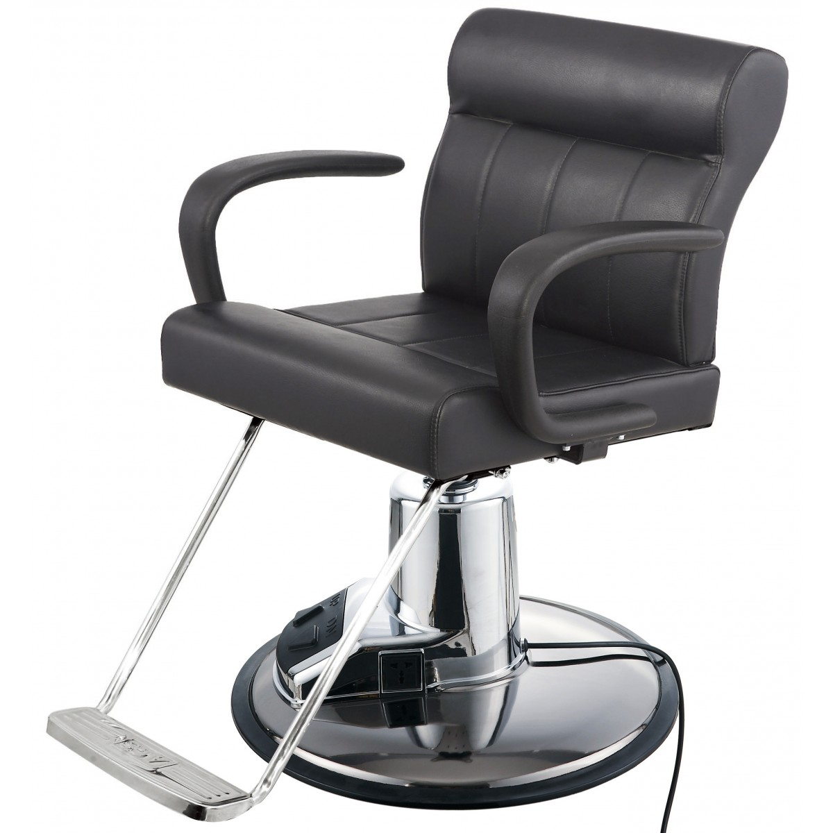 """LUNA' Salon Styling Chair w/ Electric Round Base"