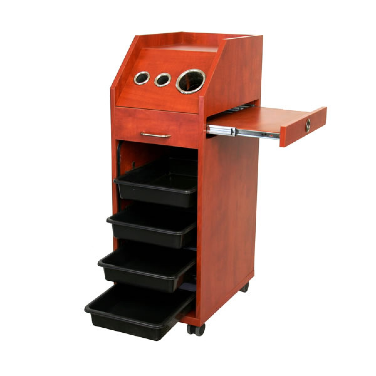 """MOCO"" Multi-function Salon Rollabout Storage Trolley (Wood Grains)"