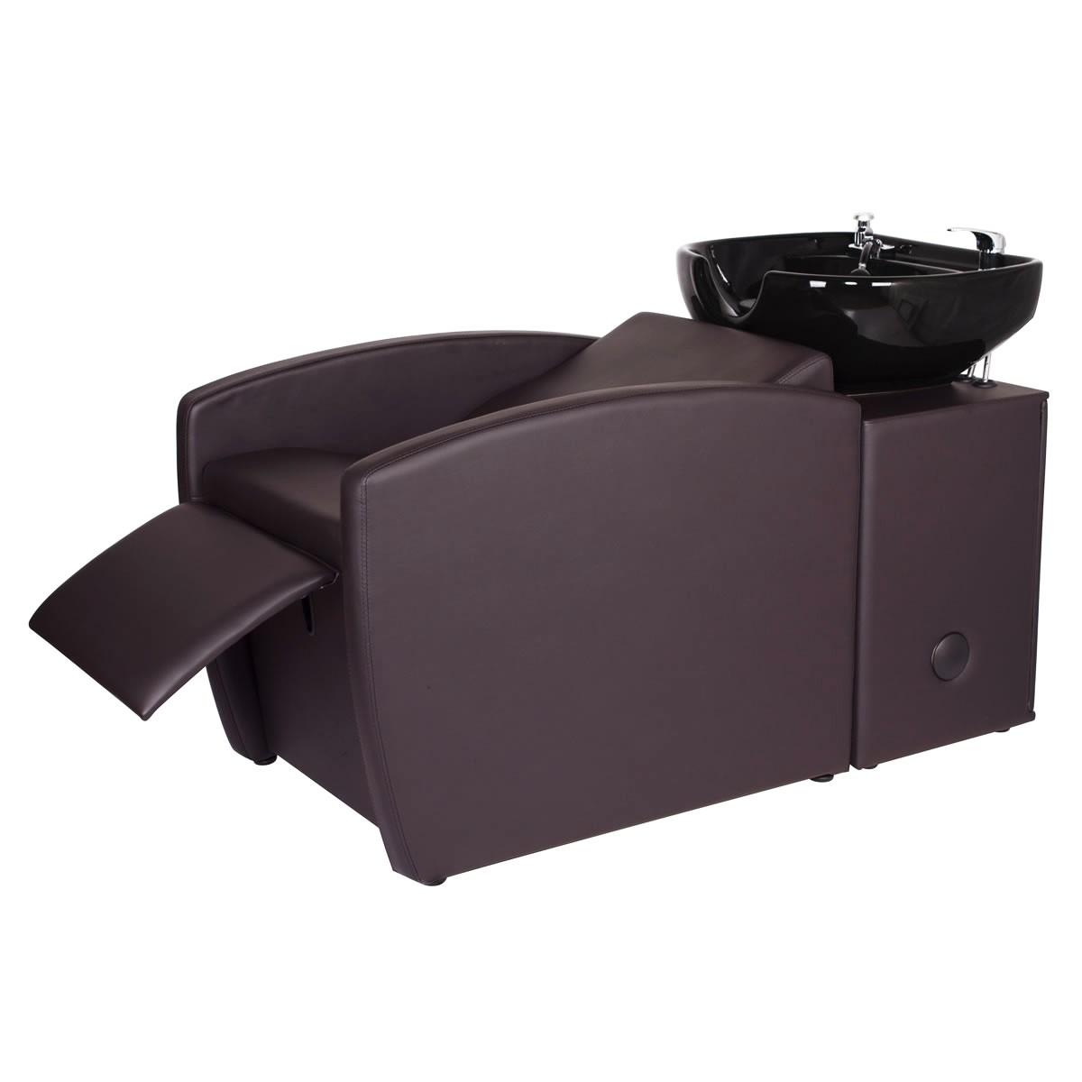 """""""RIO"""" Shampoo Backwash Unit in Soft Chocolate"""