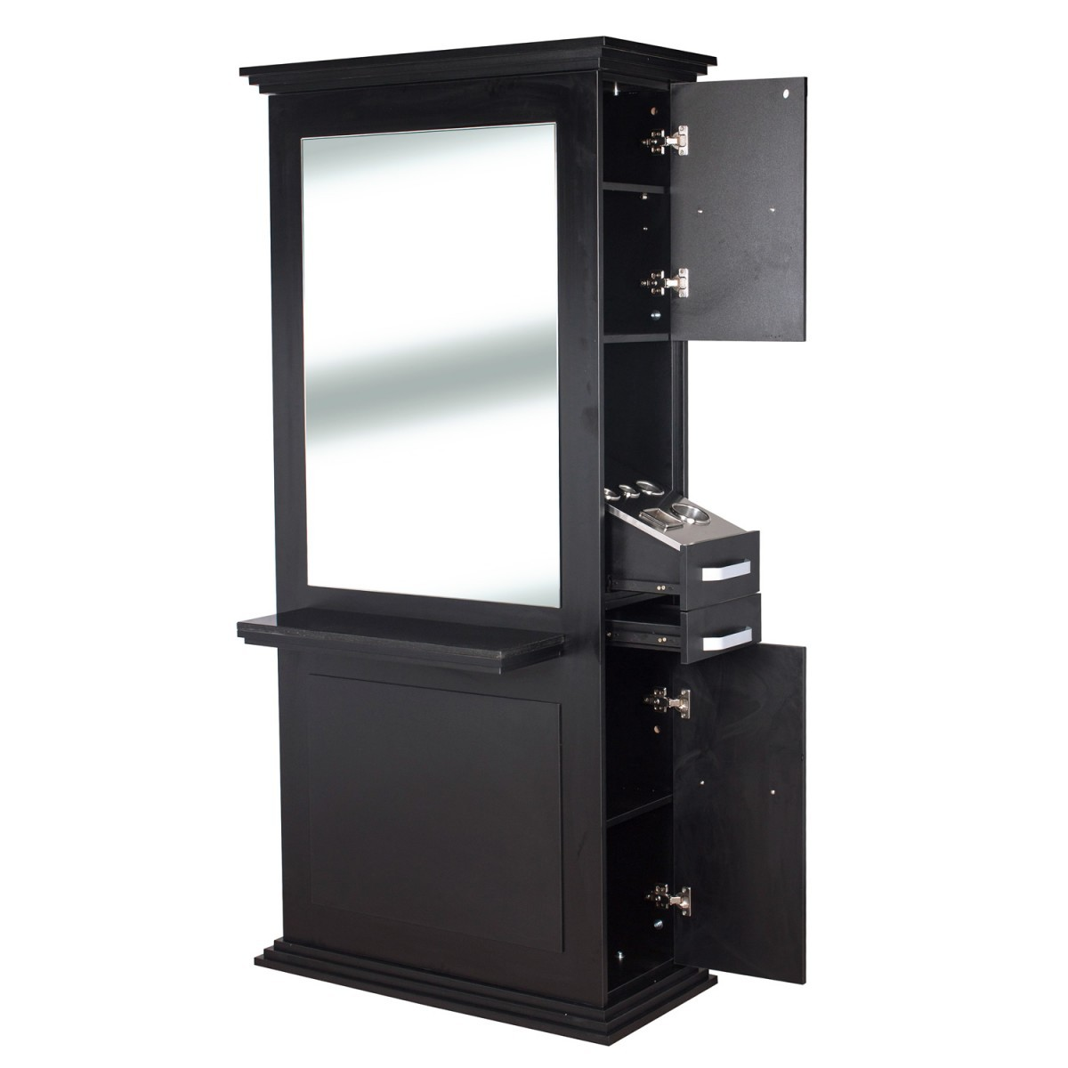 """""""SIENA"""" Double Sided Salon Station in Black"""
