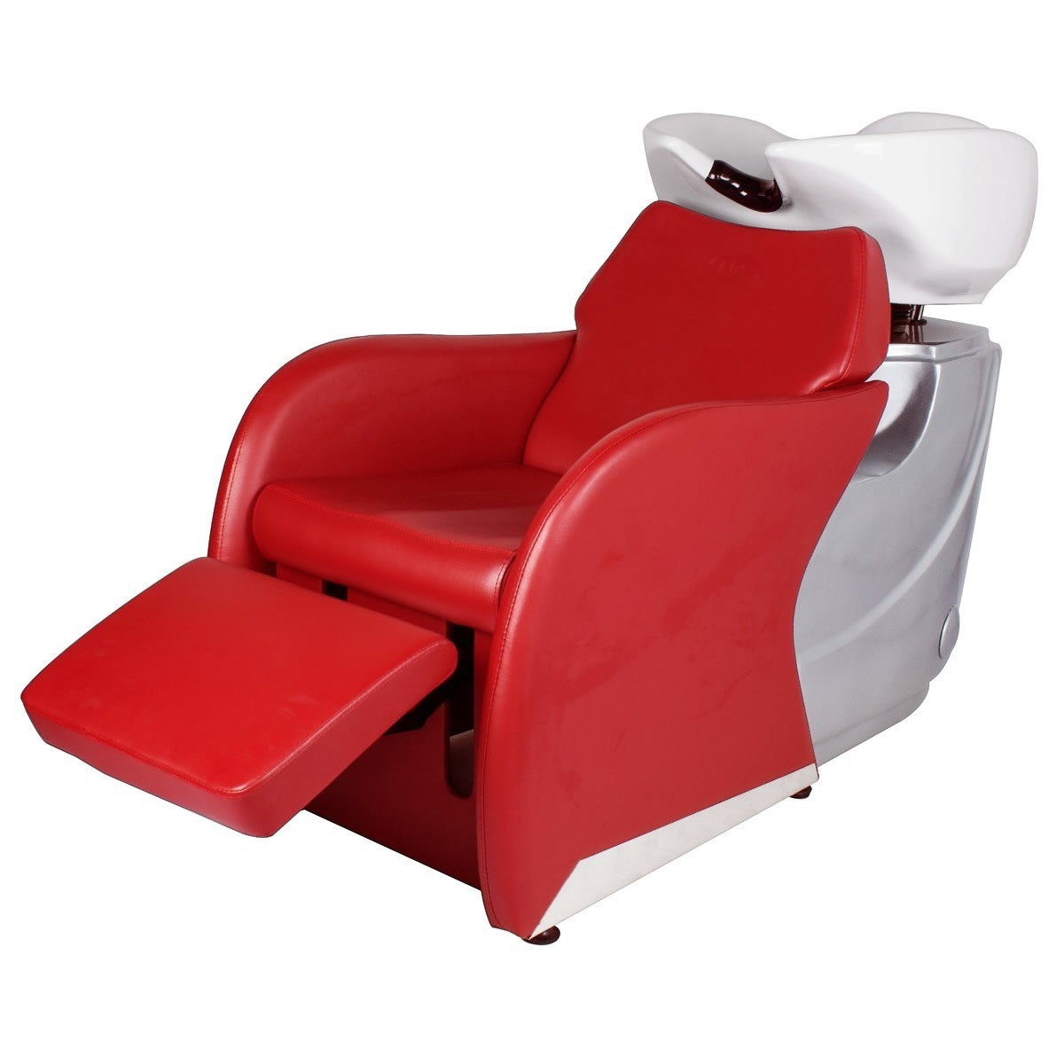 """ODESSY"" Shampoo Backwash Unit in Cardinal Red"