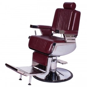 """CONTINENTAL"" Barber Chair in Dark Merlot"