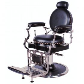 """ZENO"" Antique Barbershop Chair in Premium Black"