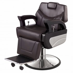 """AUGUSTO"" Barbershop Chair in Soft Chocolate"