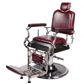 """EMPIRE"" Barber Chair in Dark Merlot"