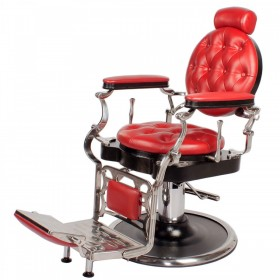 """JUSTINIAN"" Antique Barber Chair in Cardinal Red"