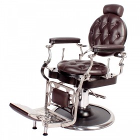 """JUSTINIAN"" Antique Barber Chair in Soft Chocolate"