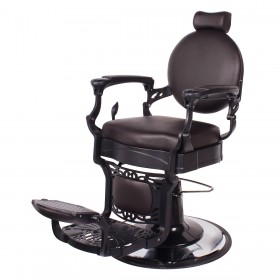 """ROMANOS"" Vintage Barbershop Chair in Soft Chocolate"
