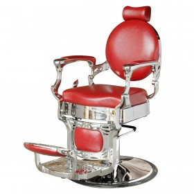 """VALENTINIAN"" Classic Barber Chair in Cardinal Red"
