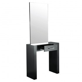 """""""AMBIENCE"""" Single Styling Station in Matte Black"""