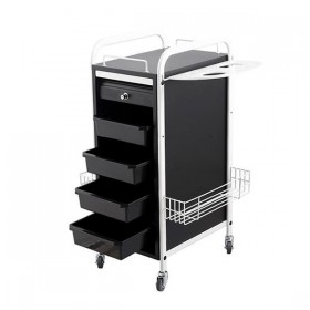 """WALKER"" Multiple Function Salon Cart (White & Black)  - Min order quantity 15 pcs"