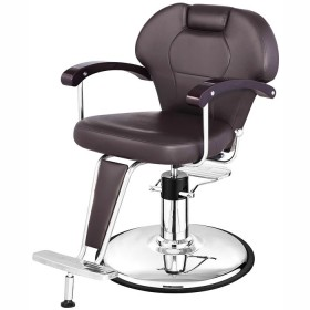 """KATHERINE"" Unisex Barber Chair in Soft Chocolate"