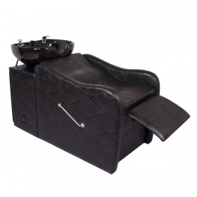 """GABRIELLE"" Shampoo Backwash Unit in Black Crocodile"