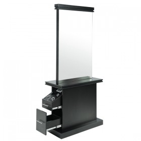 """SALAMIS"" Double Sided Salon Station (Black)"