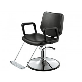 """LUX"" Salon Chair with Round Base"