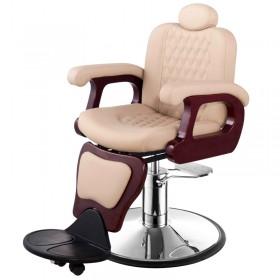 """SENIOR"" Antique Barber Chair in Khaki"