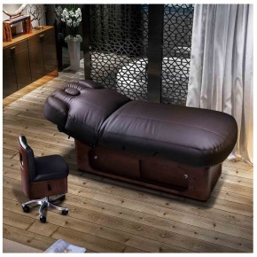 Multifunctional Spa Furniture Wooden Electric Facial Bed