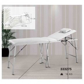 Deluxe design portable stainless steel beauty bed single metal folding massage bed with back support