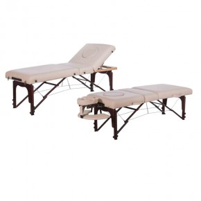 Light and carry portable wooden massage bed folding / massage facial bed