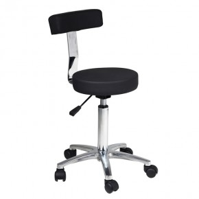 """Gardenia"" Salon Stylist Stool with Alloy Base"