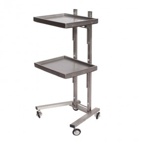 """STACKER"" foldable stack salon Cart trolley - Stainless steel"