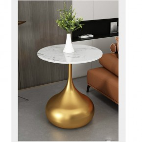 Italian minimalist luxury gilded corners marble edges modern minimalist round small American and Nordic coffee tables