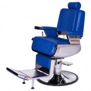 """CONTINENTAL"" Barber Chair in Cobalt Blue"
