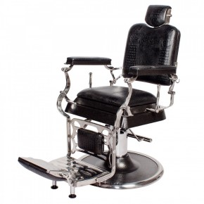 """EMPIRE"" Barber Chair in Black Crocodile"