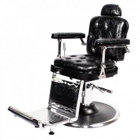 """REGENT"" Barber Shop Chair in Patent Black Crocodile"
