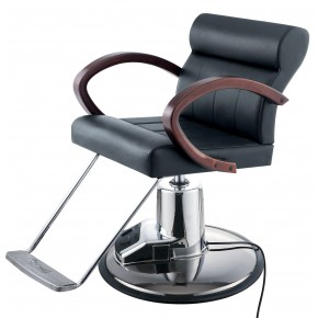 """HUNTINGDON"" Salon Styling Chair w/ Electric Round Base"