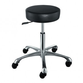 """FANCY"" Hair Salon Stool with Cast Alloy Base"