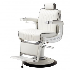 """ELITE WHITE"" Barber Chair by TAKARA BELMONT (Made in Japan)"