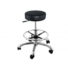 """FANCY"" Hair Salon Stool with Footrest Ring"